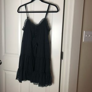 Urban Outfitters Size 1 Babydoll Black Dress